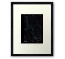 USGS Topo Map Oregon Red Lookout Butte 20110818 TM Inverted Framed Print