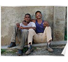 Amigos, Trinidad, Cuba. Poster