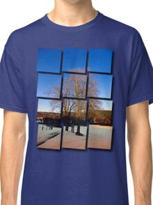 Cross with guardian trees in winter wonderland | landscape photography Classic T-Shirt