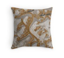 Split Personality Chainmaille Dragon Throw Pillow