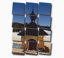 Chapel in winter scenery   architectural photography One Piece - Long Sleeve
