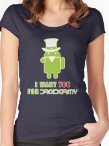 Droidarmy: Propaganda Women's Fitted Scoop T-Shirt