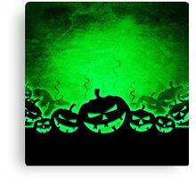 Green and Black Jack O' Lantern Print Canvas Print