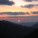 Sunset Blue Ridge Parkway Tennessee by Misty Lackey