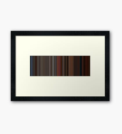 Moviebarcode: A Single Man (2009) [Simplified Colors] Framed Print