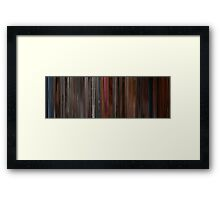 Moviebarcode: A Single Man (2009) Framed Print