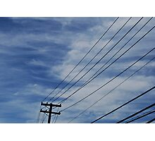 Wires in the Sky Photographic Print