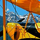 Biplane in the Alps by mamba