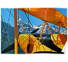 Biplane in the Alps Poster