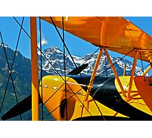 Biplane in the Alps Photographic Print