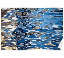 Water scribbles #01 Poster