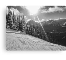 Skiing the Trails at Lake Louise Canvas Print