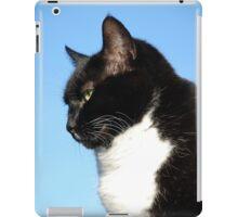 Black and white cat portrait iPad Case/Skin