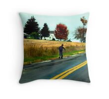 """""""Drive By"""" - Scootering Throw Pillow"""