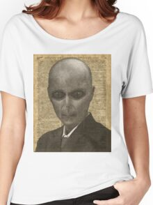 Alien over Dictionary Page Women's Relaxed Fit T-Shirt