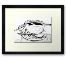It's wet and warm! Framed Print