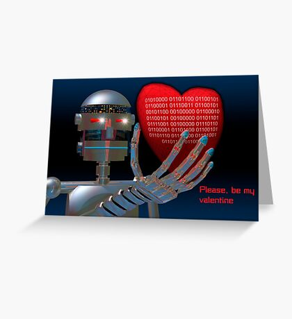 Be My Valentine Robot Greeting Card