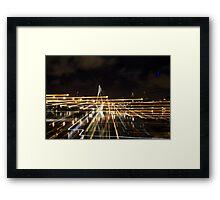 Anzac bridge at night time, Sydney Australia Framed Print