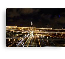 Anzac bridge at night time, Sydney Australia Canvas Print