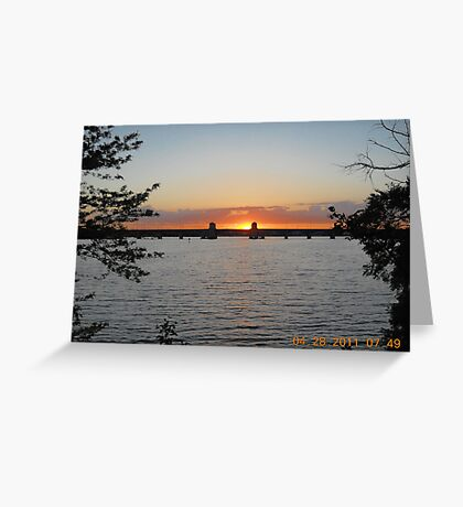 Hanover Street Bridge Sunset #120 Greeting Card
