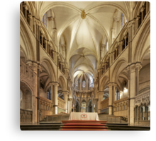 Altar, Canterbury Cathedral, Kent, England Canvas Print