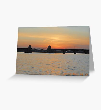 HANOVER STREET BRIDGE SUNSET #139 Greeting Card