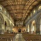Nave, St David&#x27;s Cathedral, Pembrokeshire, Wales by Bob Culshaw