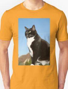 Senior black and white cat T-Shirt