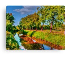 Bata Canal Strážnice painting, oil painting, nature Canvas Print
