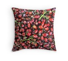 Red  Grape Duvet Throw Pillow