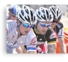 Cyclists in Tight Formation Canvas Print