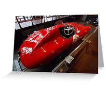 Racing Red Greeting Card