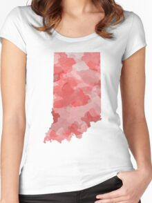 Indiana Watercolor Women's Fitted Scoop T-Shirt