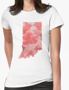 Indiana Watercolor Womens Fitted T-Shirt