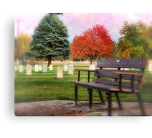 Sit Down and Visit for Awhile Canvas Print