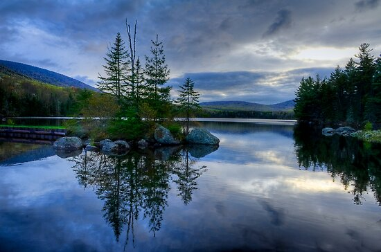Nightfall on a Mountain Lake by Joe Jennelle