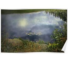 Quiet Night on the Pond Poster