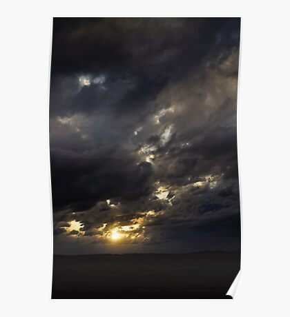 Ethereal Illumination - Castle Rock, Colorado Poster