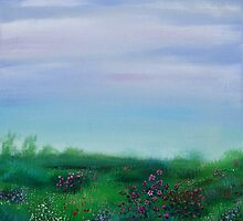 FIeld of Spring flowers by Regina Valluzzi