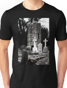 Aghavillier cemetry and round tower Unisex T-Shirt