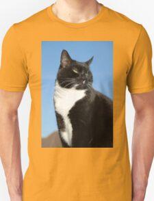 Black and white cat portrait T-Shirt