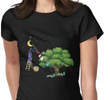 Clamps on the moon Womens Fitted T-Shirt