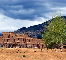 Pueblo Village by Nancy Richard
