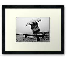 White Sky-Rainy Days Are Fun Too! Framed Print