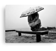 White Sky-Rainy Days Are Fun Too! Canvas Print