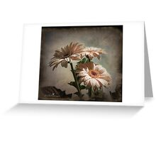 Dramatic floral Greeting Card