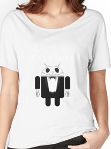The Android Before Christmas  Women's Relaxed Fit T-Shirt
