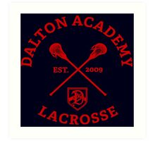 Dalton Academy Lacrosse Art Print