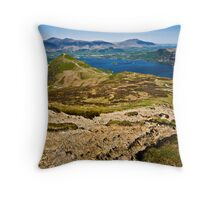 Catbells & Derwent Water, Keswick Throw Pillow