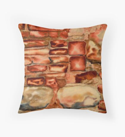 Bare Brick Stage Throw Pillow